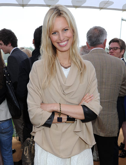 Supermodel, Karolina Kurkova in Casha at Coworth Park Polo